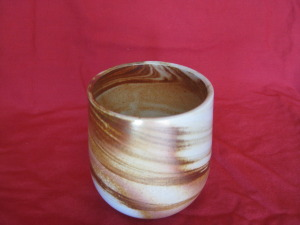 Shin Cup, marbled 90 mm. high $40
