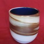 Cup,marbled, Cobalt gl. 90 mm. high $35
