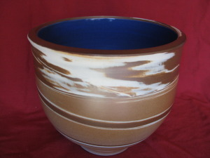 Marbled Lg, Bowl Cobalt gl. 230 mm. diam. $135